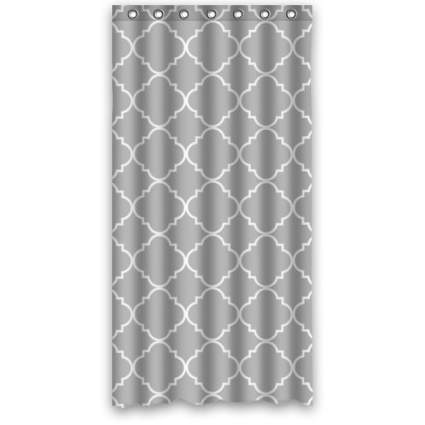 shower stall curtains, stand up shower curtain, quatrefoil shower curtain