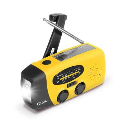 esky, emergency radio, hand crank radio, solar radio, power bank, nuclear survival