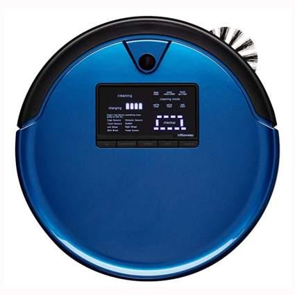 blue robotic vacuum and mop
