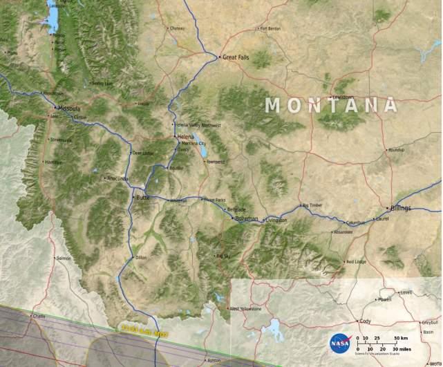 Montana path of totality.