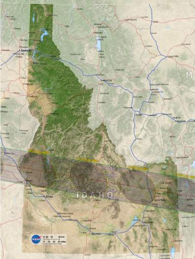 Idaho path of totality