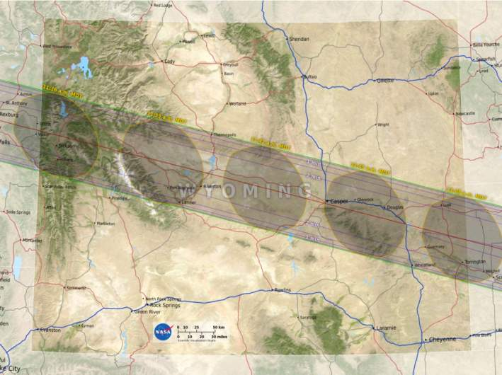 Wyoming path of totality