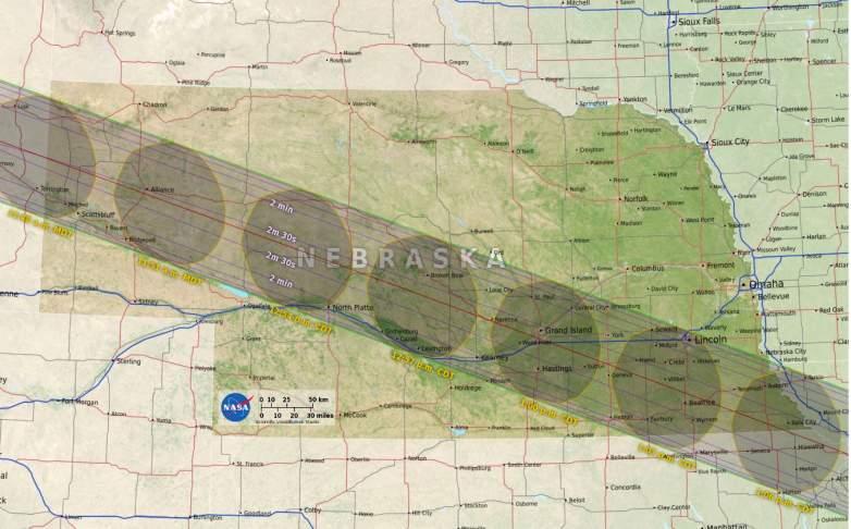 Nebraska path of totality