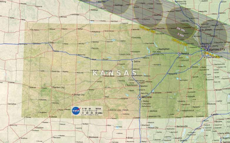 Kansas path of totality
