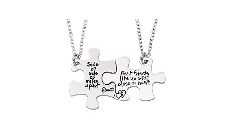 best friend jewelry, best friend necklaces, friendship necklaces, bff necklaces, charm necklace