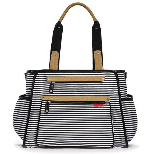 Skip Hop Baby Grand Central Take-it-All Diaper Bag, skip hop diaper bag, striped diaper bag, best diaper bags, diaper bags, best diaper bags for new moms, diaper bags for new moms, shoulder diaper bag, large diaper bag, stylish diaper bag, cute diaper bag, neutral diaper bag