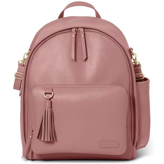 Skip Hop Greenwich Simply Chic Diaper Backpack (Dusty Rose), skip hop diaper bag, blush pink diaper bag, dusty rose diaper bag, cute diaper bag, stylish diaper bag, pretty diaper baby, backpack diaper bag, affordable diaper bag, best diaper bags, diaper bags, best diaper bags for new moms, diaper bags for new moms