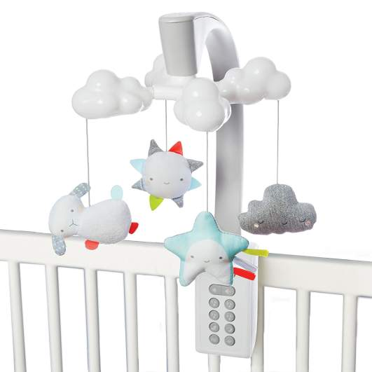 Skip Hop Moonlight & Melodies Projection Mobile (Cloud), skip hop mobile, best baby mobiles, baby mobiles, crib mobiles, best crib mobiles, projection mobile, cloud mobile, mobiles for boys, mobiles for girls