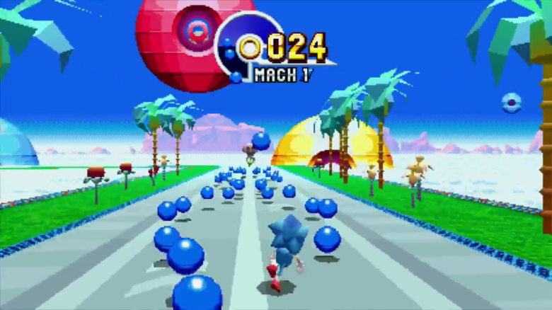 sonic mania special stages, sonic mania bonus stages, sonic mania time attack