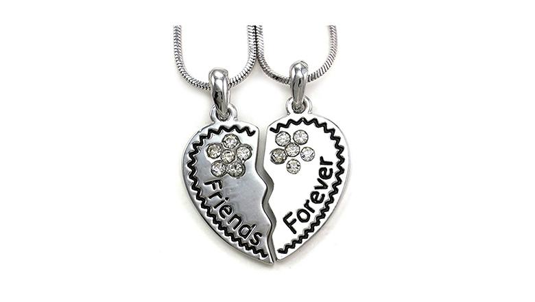 best friend jewelry, best friend necklaces, friendship necklaces, bff necklaces