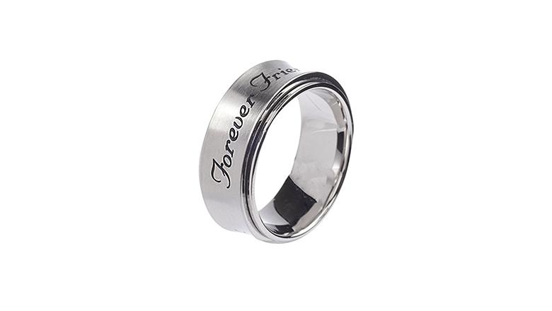 best friend jewelry, best friend rings, friendship rings, bff rings, spinner ring