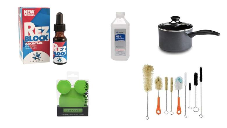 glass cleaning kit, bong cleaning kit