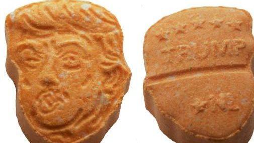Donald Trump Ecstasy, Donald Trump pills, Donald Trump drugs, Donald Trump Germany