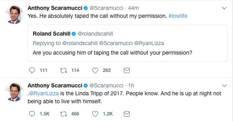 Anthony Scaramucci Twitter Tweet Linda Tripp