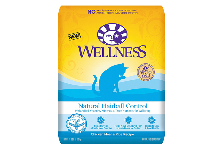 Image of wellness hairball control dry cat food