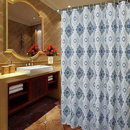 shower stall curtain, stand up shower curtain, paisley shower curtain