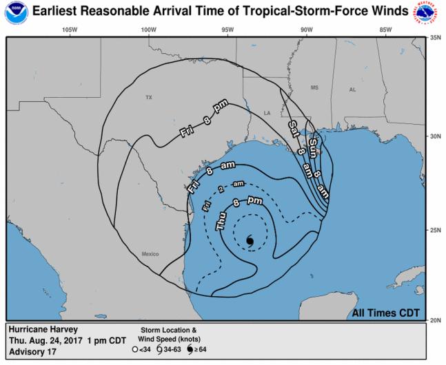 hurricane harvey wind