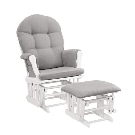 Windsor Glider and Ottoman, best nursery glider, nursery glider, nursery glider and ottoman, glider and ottoman, gray and white nursery glider