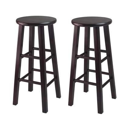 counter height bar stools, breakfast bar stools, wood bar stools, simple bar stools