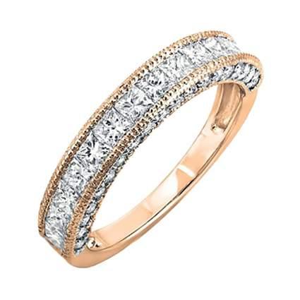 princess cut diamond and rose gold band