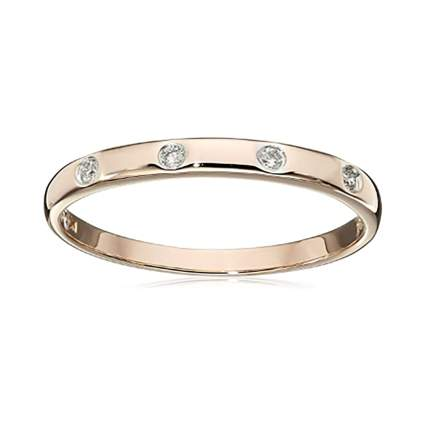 rose gold four diamond eternity ring