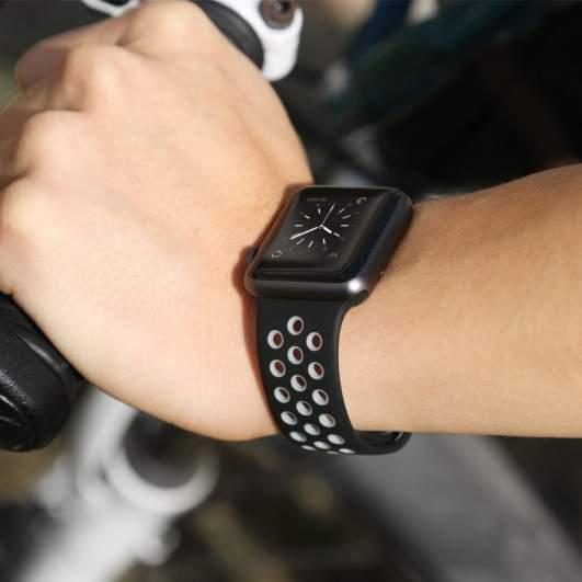 ouluoqi holes apple watch, best apple watch bands, series 3 apple bands, best series 3 apple watch bands