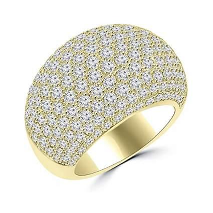 pave diamond dome ring