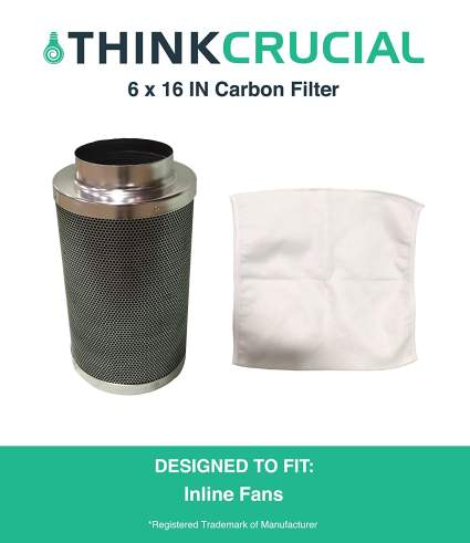 Think Crucial Carbon Inline Fan Filter & Odor Control