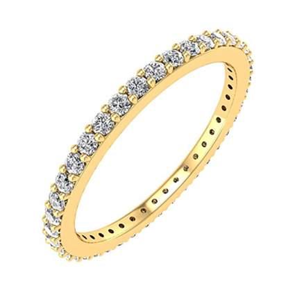 yellow gold and diamond eternity band