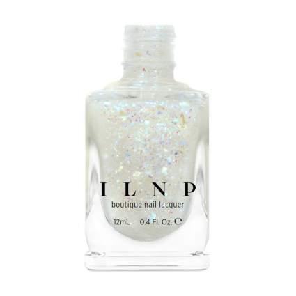 ILNP white flakie nail polish