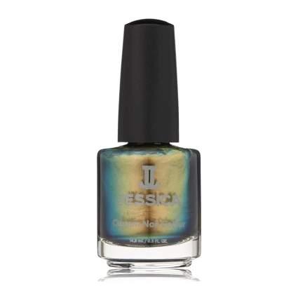 Green chrome Jessica nail polish bottle