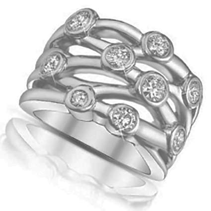 bezel set diamond anniversary ring