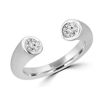 brilliant cut diamond open band ring
