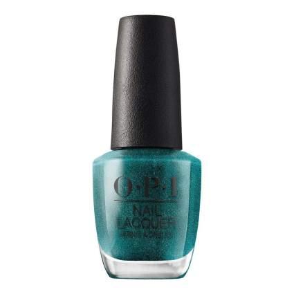 Ocean blue OPI nail polish bottle