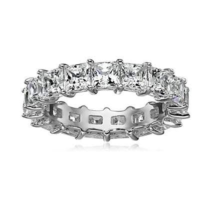 platinum plated swarovski eternity ring