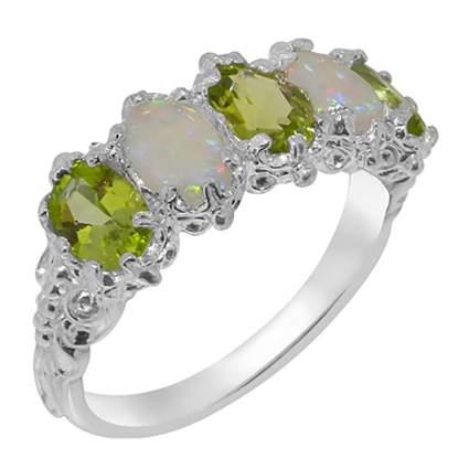 peridot and opal eternity ring