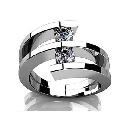 two diamond spiral anniversary ring
