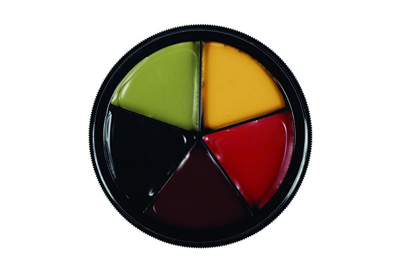 Bruise wheel makeup palette from Mehron
