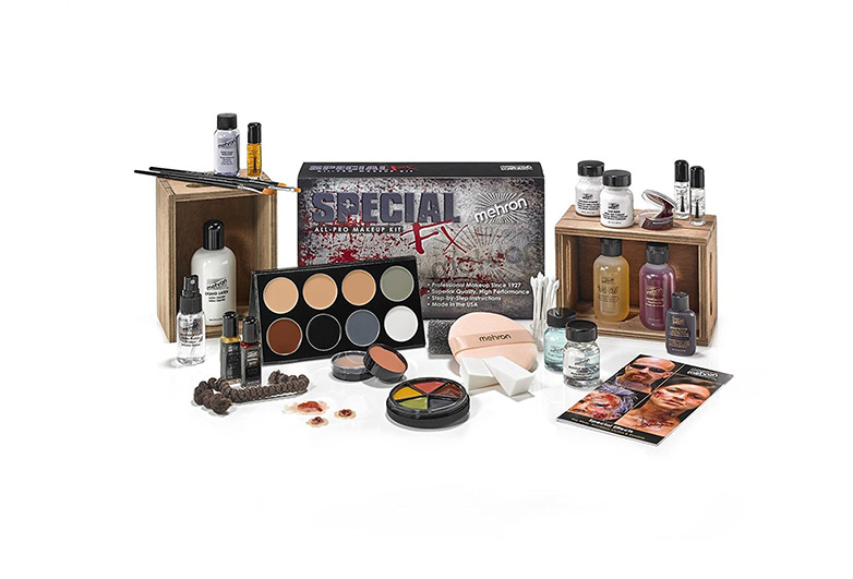 Huge array of halloween makeup items in special effects kit