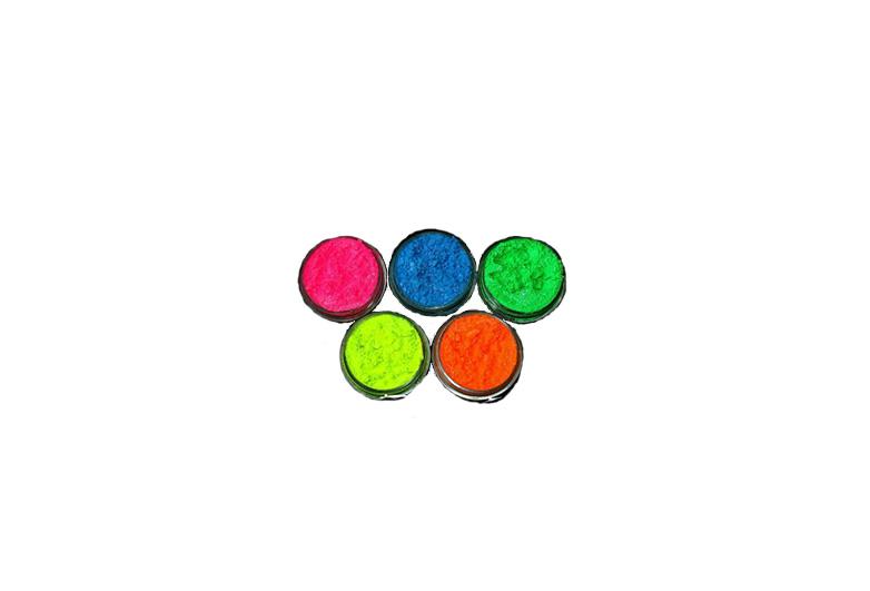 Pots of neon loose pigment