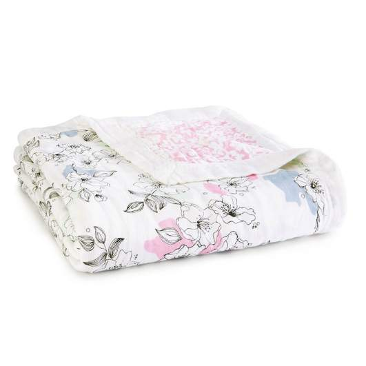 Aden + Anais Silky Soft Dream Blanket (Meadowlark), best baby blanket, baby blanket, luxe baby blanket, floral baby blanket, cute baby blanket, soft baby blanket, plush baby blanket, receiving blanket, baby blanket for girls