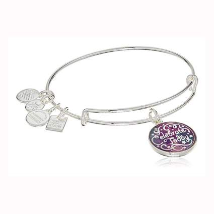 silver celebrate today bangle charm bracelet