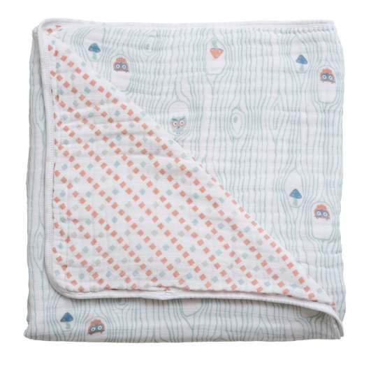 Bebe au Lait Premium Muslin Snuggle Blanket, best baby blanket, baby blanket, soft baby blanket, owl baby blanket, cute baby blanket, receiving blanket