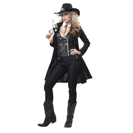 women's black cowgirl costume