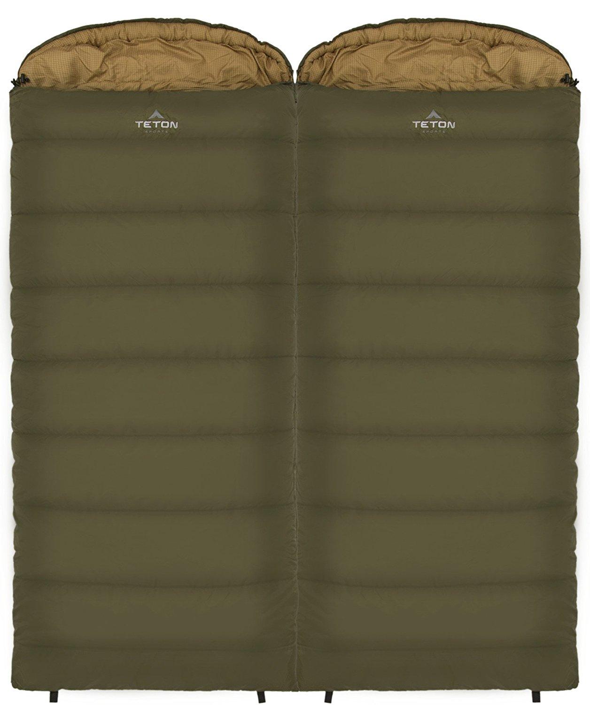 teton sports, sleeping bag, double sleeping bag, winter camping