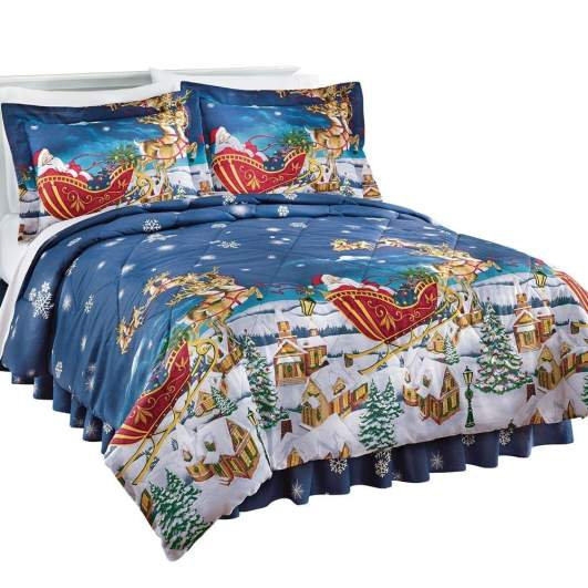 christmas bedding, christmas comforter
