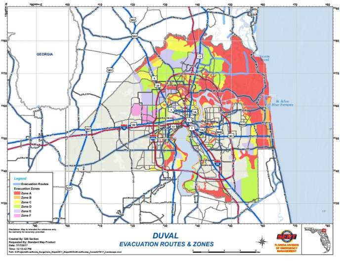 Horry County evacuation zone, Myrtle Beach evacuation zone, Myrtle beach evacuation