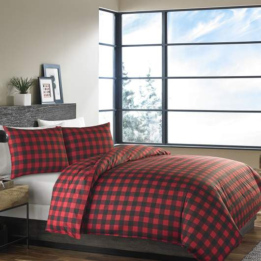 christmas bedding, plaid bedding, holiday bedding