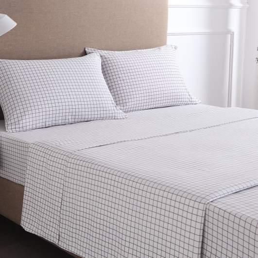 printed sheets, gingham plaid sheets