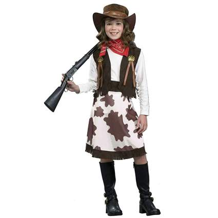 brown cow print cowgirl costume